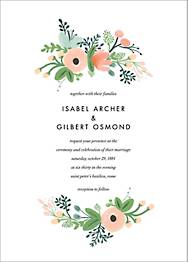 Wrapped in Wildflowers Wedding Invitation