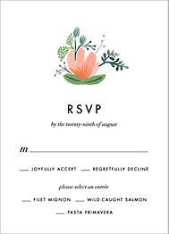 Wrapped in Wildflowers  Response Card