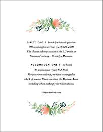 Wrapped in Wildflowers  Information Card