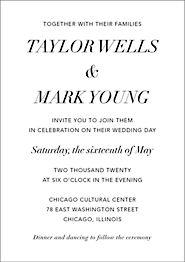 Contemporary Wedding Invitation