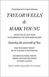Tall Contemporary Wedding Invitation