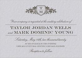 Vintage Crest Wedding Invitation