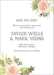 Painted Floral Save The Date