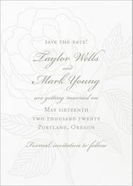 Rose Letterpress Save The Date