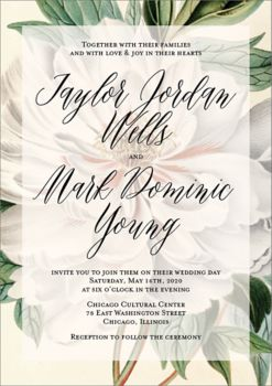 Romantic Wedding Invitation Design