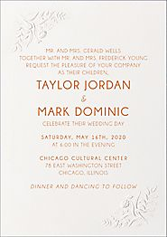 Embossed Floral Wedding Invitation