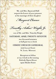 Baroque Wedding Invitation