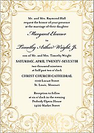 Baroque Wedding Invitation