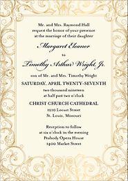 Tall Baroque Wedding Invitation