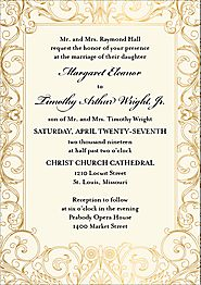 Tall Baroque Wedding Invitation