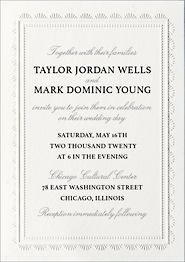 Scalloped Frame Wedding Invitation