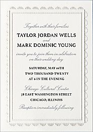 Scalloped Frame Wedding Invitation