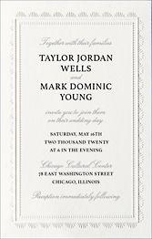 Tall Scalloped Frame Wedding Invitation
