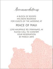 Coral Information Card