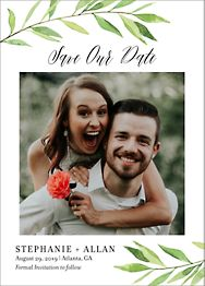 Green Garland Save The Date