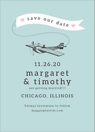 Plane Banner Save The Date