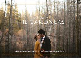 Duo Border Wedding Announcement