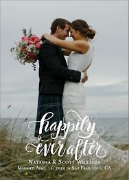 Happily Ever After Wedding Announcement