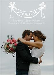 Just Married Banner Wedding Announcement