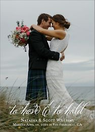 To Have and to Hold Wedding Announcement