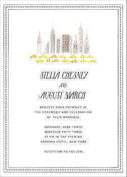 Mr. Big Apple Wedding Invitation