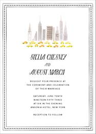 Mr. Big Apple Wedding Invitation
