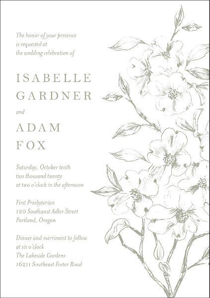 Dogwood Tree Wedding Invitation