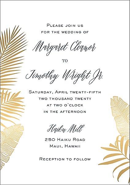 Palms Wedding Invitation Paper Source