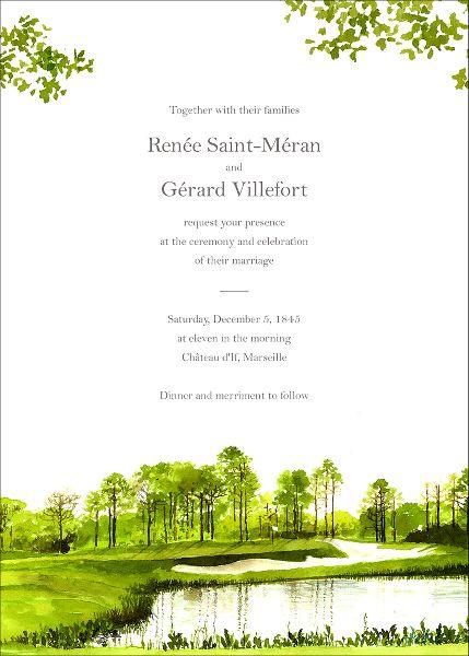 Augusta Wedding Invitation
