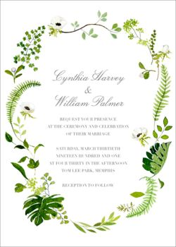 Greenery Wedding Invitation Design