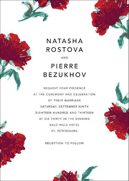 Pop Carnation Wedding Invitation