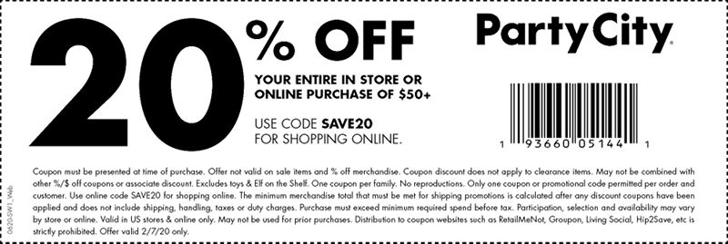 Halloween City Coupons 2020 US swo coupon landing page 3 | Party City