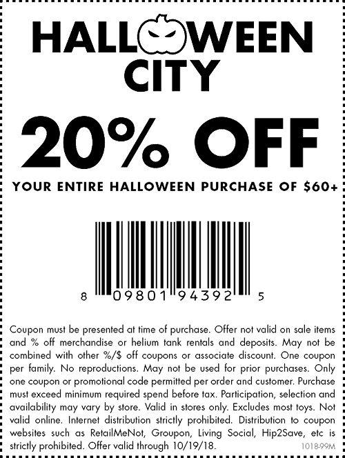 premium selection eb257 f85de Halloween Coupon