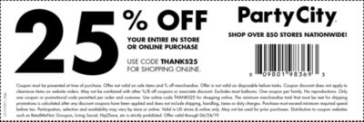party city in store coupon