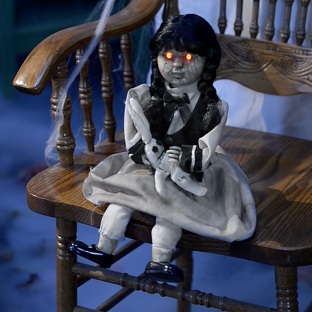Pleasing Details About Animated Tear Apart Tina Scary Halloween Animatronic Haunted Doll With Batteries Ibusinesslaw Wood Chair Design Ideas Ibusinesslaworg