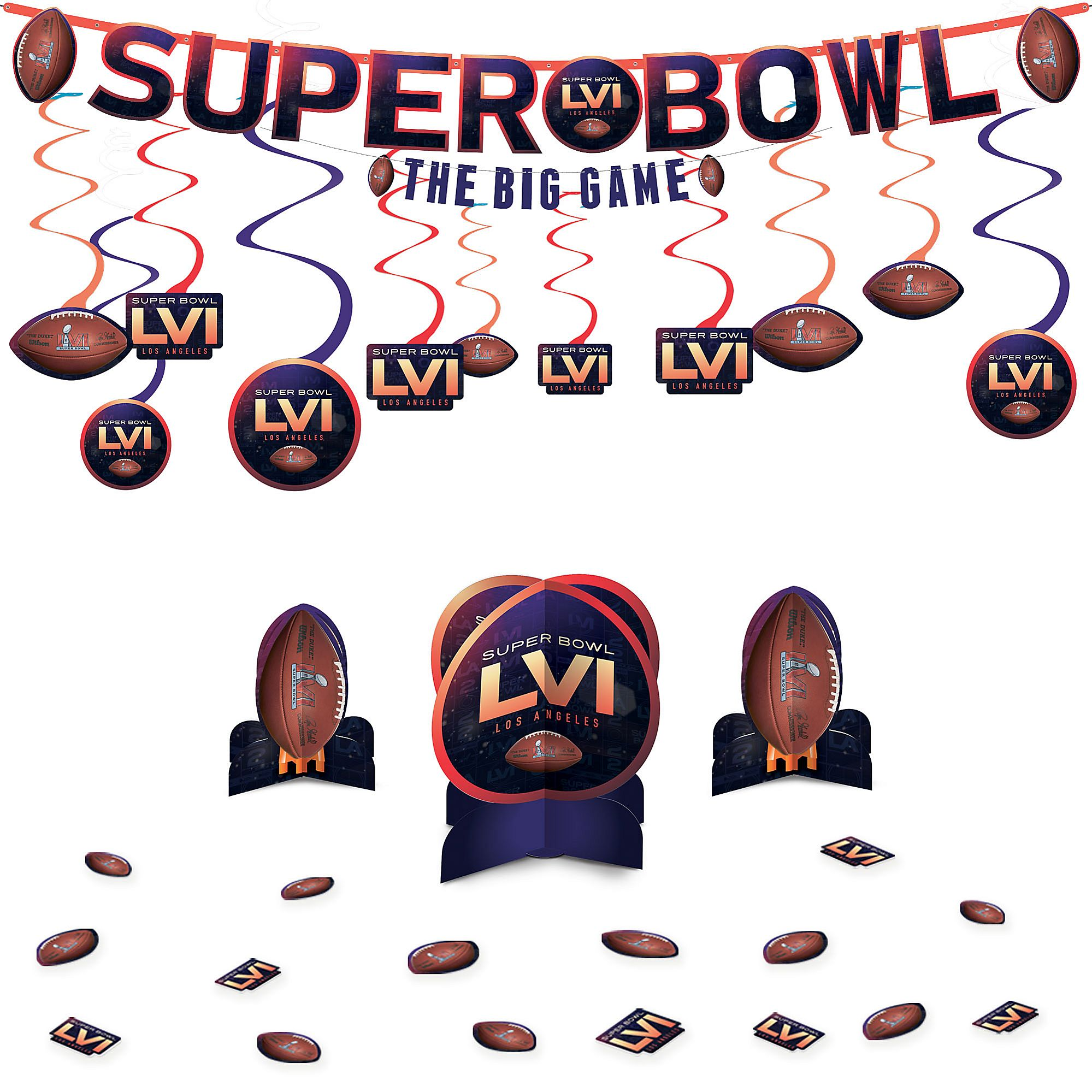 decorative table centerpieces.htm super bowl decorating supplies swirls banner table decorating kit  super bowl decorating supplies swirls