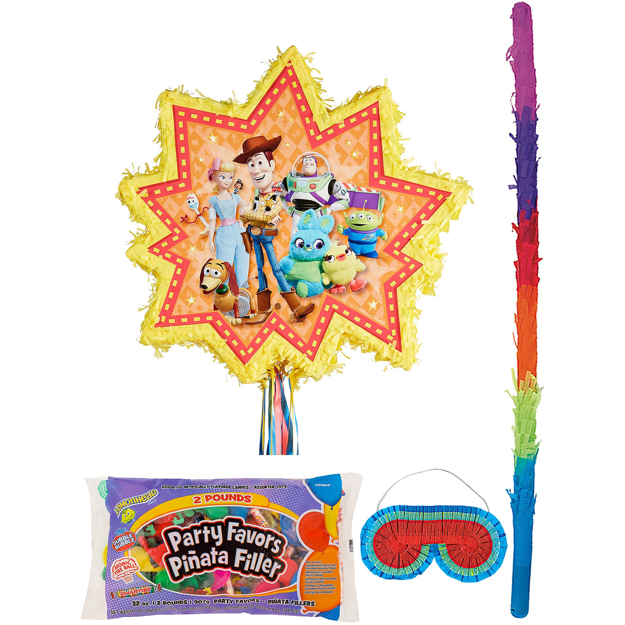 Pull-String Toy Story 4 Pinata Supplies, Include Stick