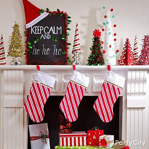 Christmas decorations ideas do it yourself psoriasisguru christmas mantel decorating ideas party city solutioingenieria Choice Image