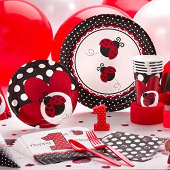 Fancy Ladybug 1st Birthday Balloon Bouquet