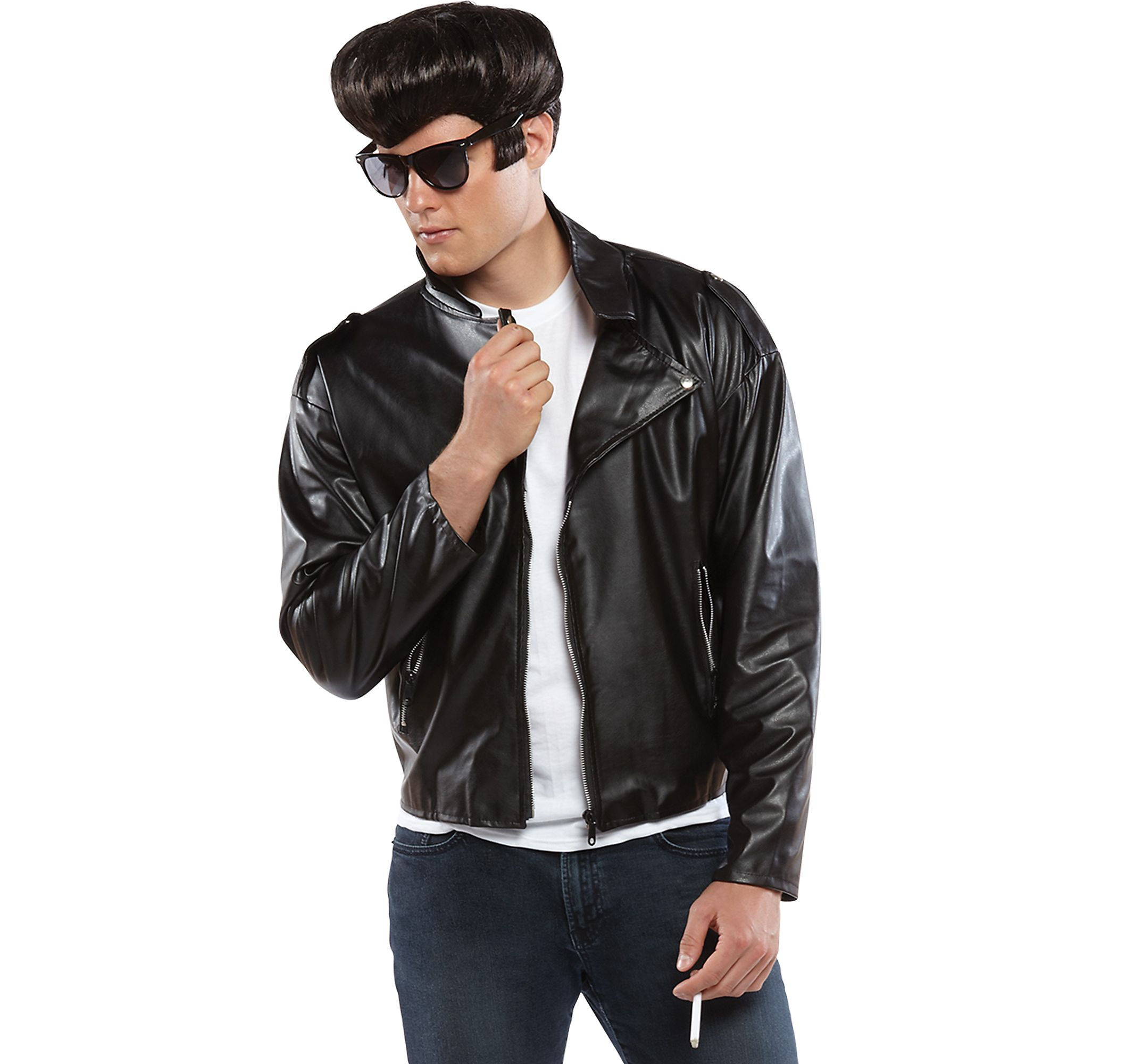 f8638c92aba Purim One Size Costume Greaser Jacket Adult 50s Halloween Fancy Dress Amscan