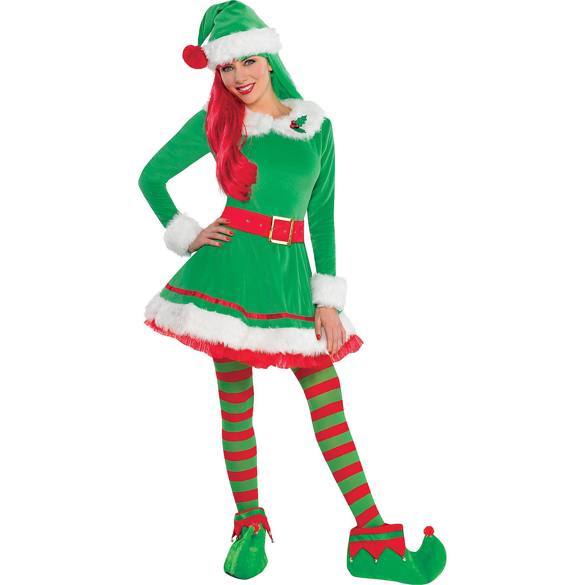 75258c66d1 Green Elf Costume for Women, Christmas Costume, Medium, with ...