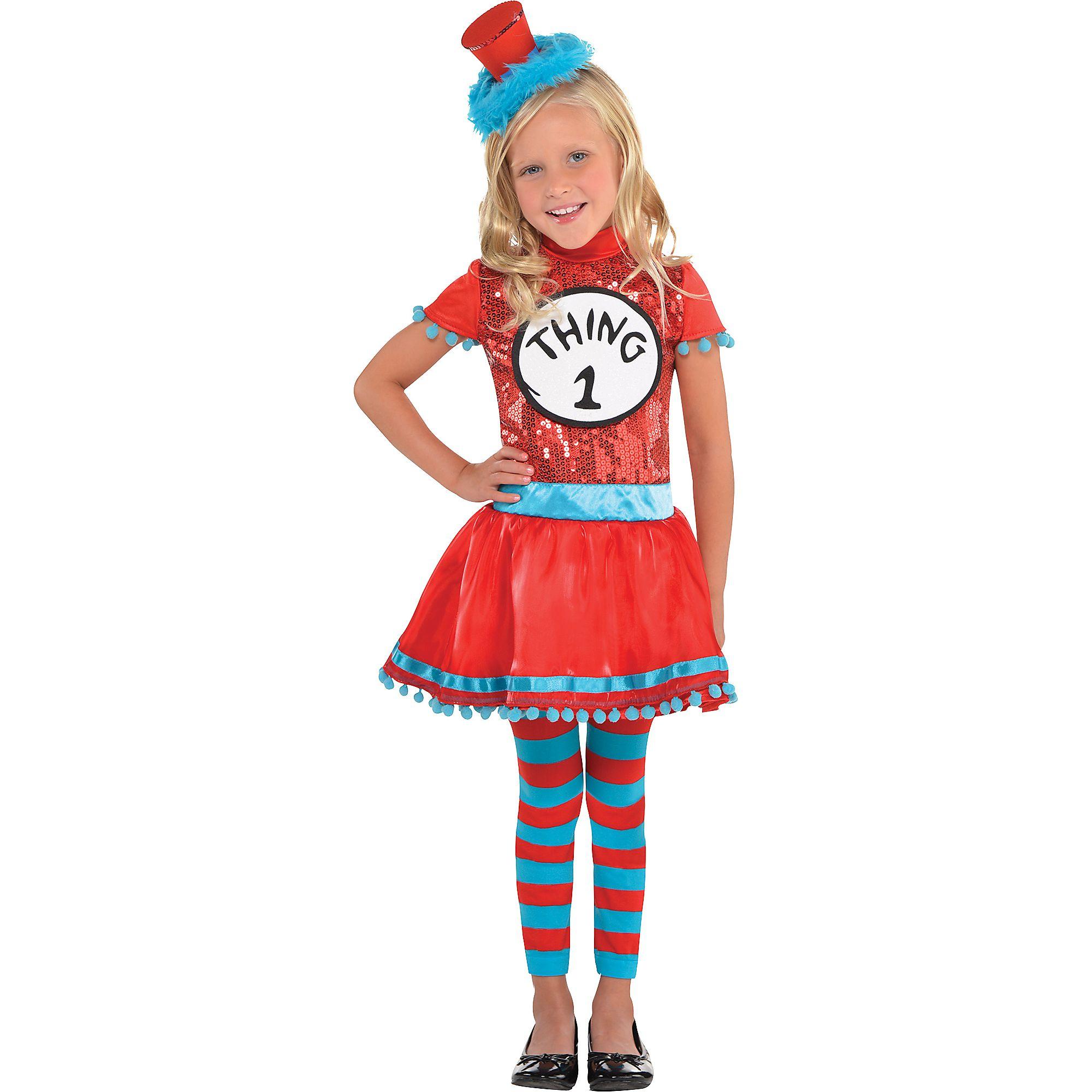 Dr. Seuss Thing 1   Thing 2 Dress Costume for Girls 7ff3bffa5
