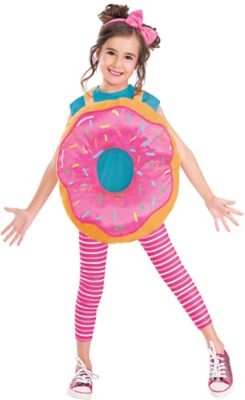 Details About Delightful Donut Pink Funny Halloween Costume Girls Standard  Size With Headband