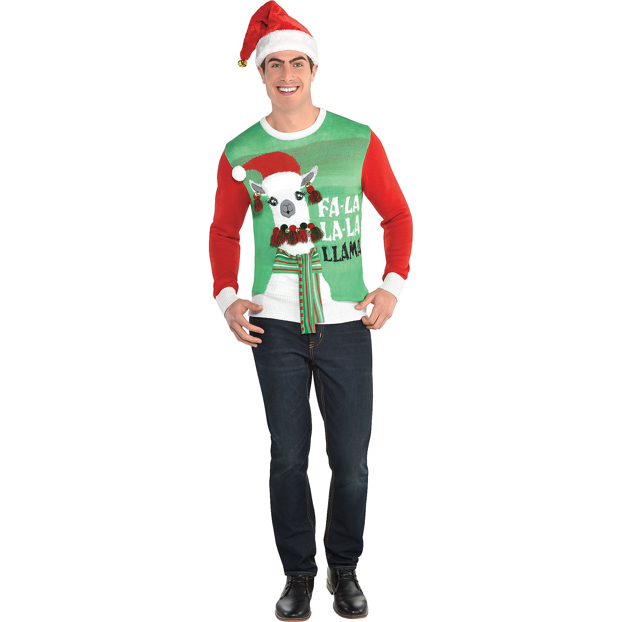 Llama Ugly Christmas Sweater For Adults, Holiday Apparel