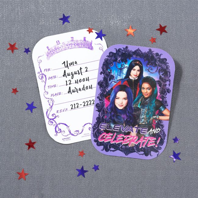 Disneys Descendants 3 Invitations 8 per pack