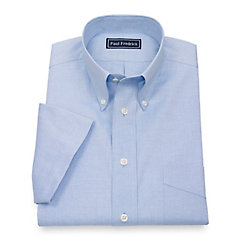 Men's Vintage Style Shirts Cotton Pinpoint Oxford Button Down Collar Short Sleeve Dress Shirt $30.00 AT vintagedancer.com