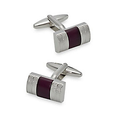 1920s Mens Formal Wear Clothing Enamel Fiberoptic Inset Rectangle Cufflinks $70.00 AT vintagedancer.com