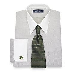 Edwardian Men's Shirts & Sweaters Cotton Dot Dress Shirt $50.00 AT vintagedancer.com