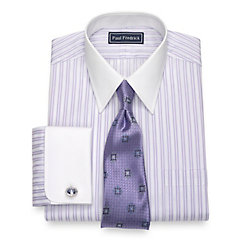 1920s Style Mens Shirts Cotton Stripe Dress Shirt $80.00 AT vintagedancer.com