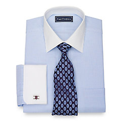 1920s Style Mens Shirts Cotton Chevron Dress Shirt $80.00 AT vintagedancer.com